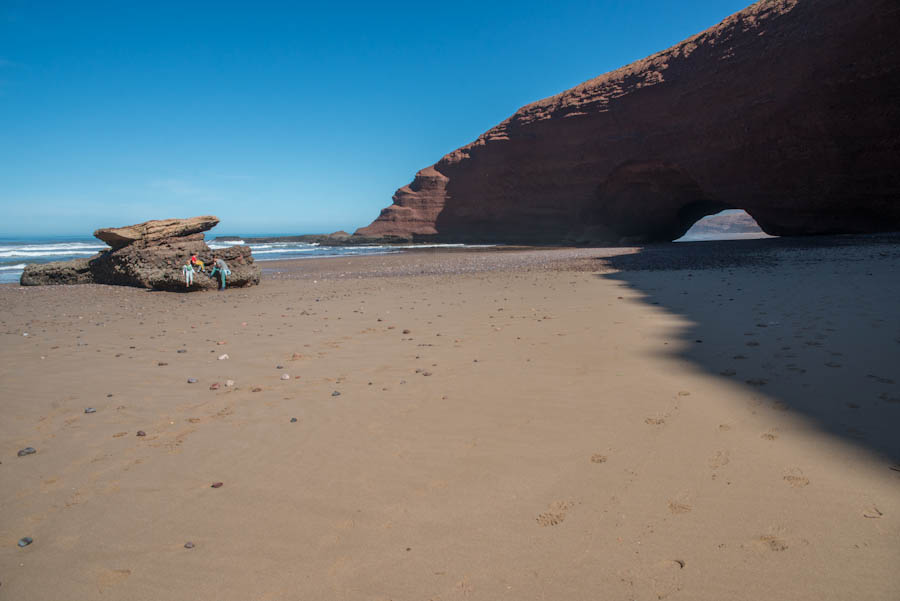 The broken arch beach. Legzira, Morocco