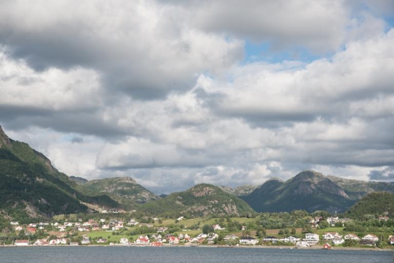 View of Norwegian mountains