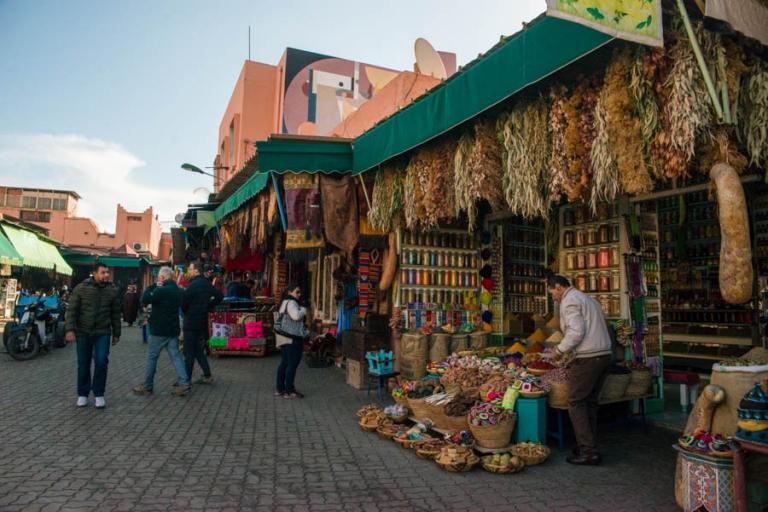 Marrakesh Medina from street level