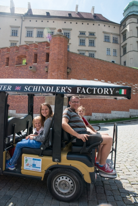 Guided golf cart tour in Krakow