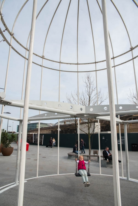 The bird cage swing at Kings Cross