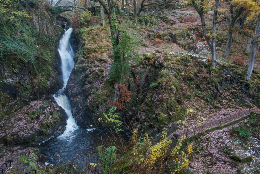 Aira Force with a sprinkling of snow