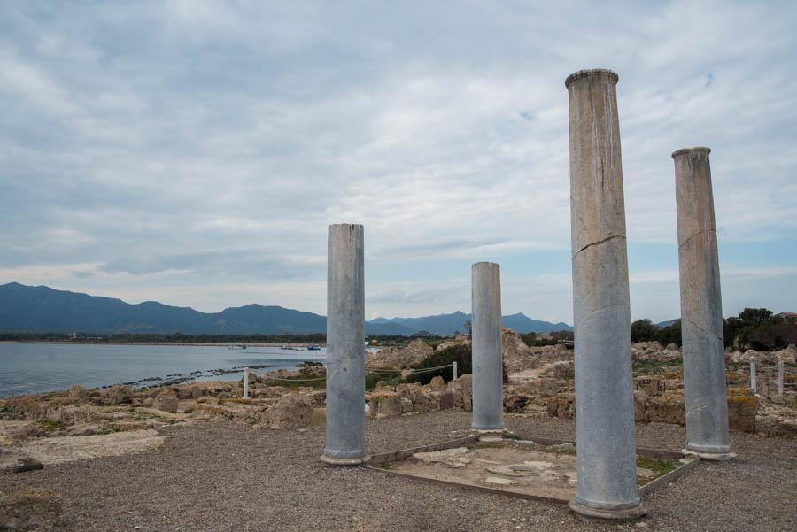 Roman Ruins; Nora Archaeological Site. Pula, Sardinia