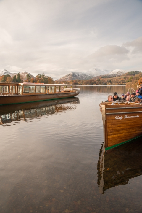 The Keswick Launch coming in to dock